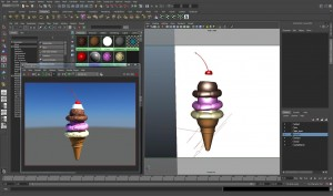 Creating an ice cream cone digitally