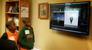 Broward County Students Learning about 3D Art Creation