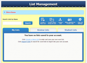 List Management by SpellingCity