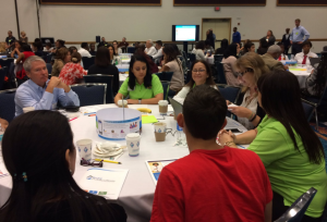 Educators, parents, and students participate in discussions on re-imagining a more engaging education process.
