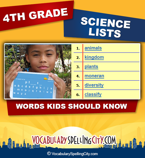 Fourth Grade Science Vocabulary | VocabularySpellingCity