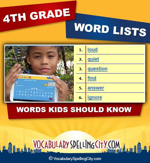 4th grade word lists vocabularyspellingcity sciox Images