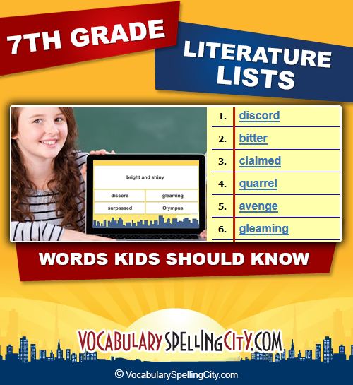 math worksheet : seventh grade literature vocabulary  vocabularyspellingcity : Multiple Meaning Words Worksheets 7th Grade