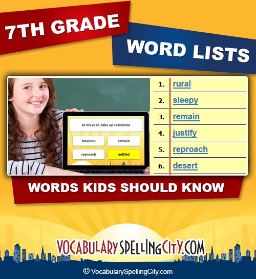 7th grade spelling words pdf