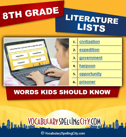 math worksheet : eighth grade literature vocabulary  vocabularyspellingcity : Multiple Meaning Words Worksheets 8th Grade