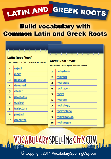Greek and latin root words worksheet high school