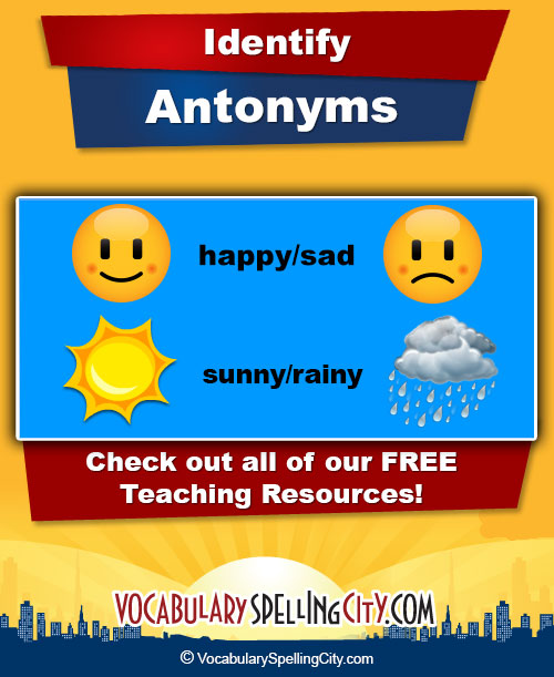 4th-5th Antonyms List 2