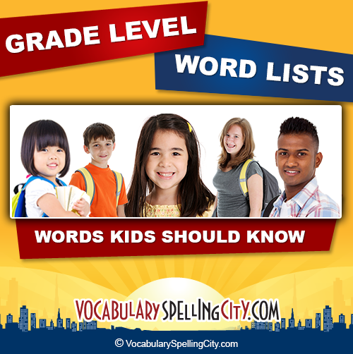Elementary School National Curriculum: Grade Level Spelling Words