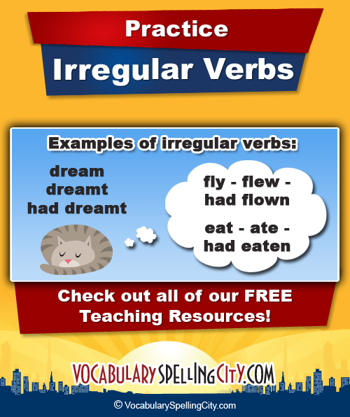 how to teach irregular verbs 3rd grade