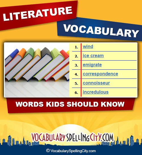 word lists by category