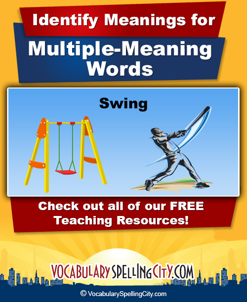 math worksheet : homonyms  vocabularyspellingcity : Multiple Meaning Words Worksheets 6th Grade