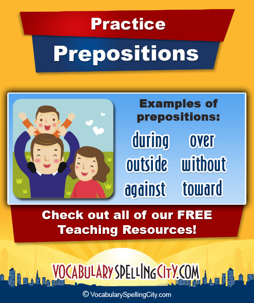 Examples of Prepositions