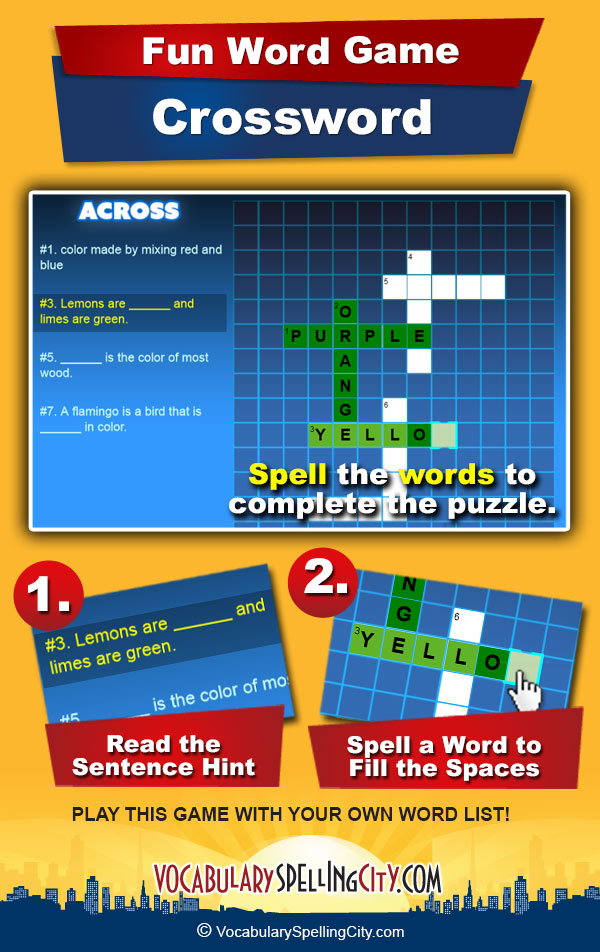 Crossword Game Screenshot