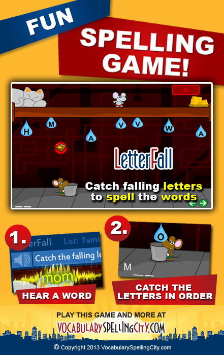 LetterFall Game Screenshot