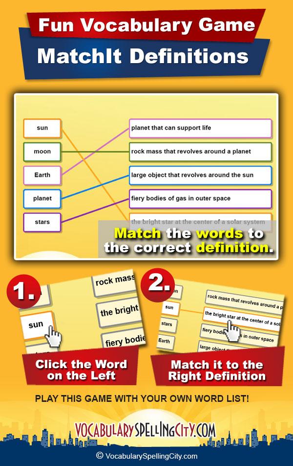 MatchIt Definitions | VocabularySpellingCity