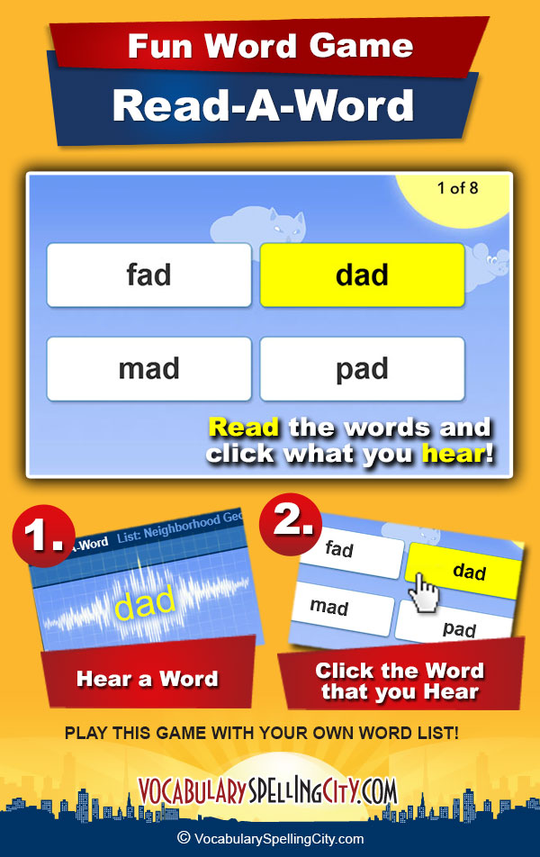Read-A-Word Game Screenshot