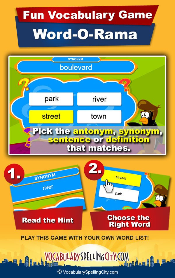 Word-O-Rama Game Screenshot