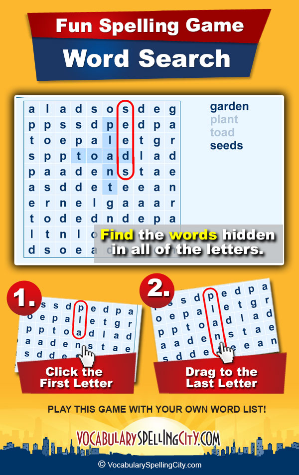 word search vocabularyspellingcity