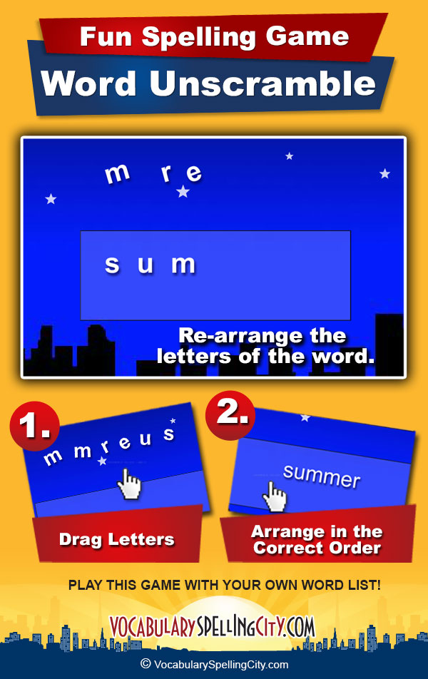 Word Unscramble Game Screenshot