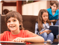Homeschool Learning Vocabulary on a Tablet