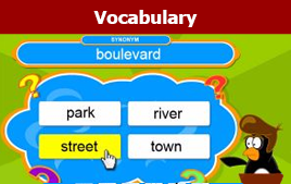 vocabulary game button