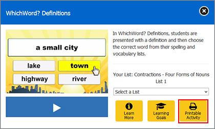 Printable Worksheets | VocabularySpellingCity