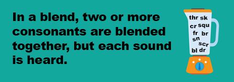 Consonant Blend Word List
