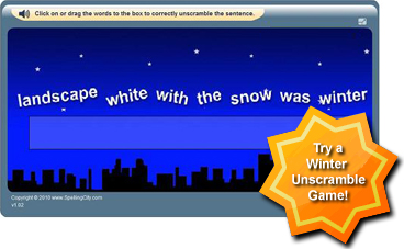 SpellingCity Unscramble Game